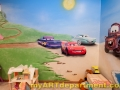 Disney characters mural kids playroom - Cars