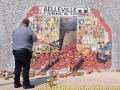 Exterior Crashed Wall Mural - Police on the Scene