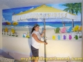 Girl's Bedroom Beach Mural - Install