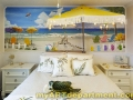 Girl's Bedroom Beach Mural - Installed
