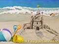 Girl's Bedroom Beach Mural - Sand Castle