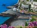 Hand Painted Positano Italy Mural - Dock Detail