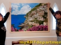 Hand Painted Positano Italy Mural - Installed