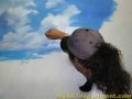 Hand Painted Positano Italy Mural - Painting the Sky