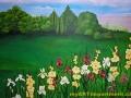Roman Villa Mural - Flowers