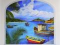 St Maarten Dock Mural - Complete