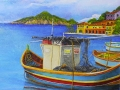 St Maarten Dock Mural - Fishing Boat