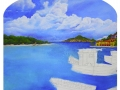 St Maarten Dock Mural - In Progress