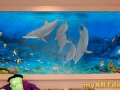 Healthcare Mural - Kids Playroom - Dolphins