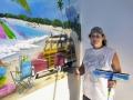 Beach Mural in Boy's Bedroom - Installation