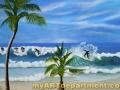 Beach Mural in Boy's Bedroom - Surfers