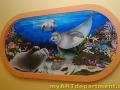 Undersea Wall Mural - Seals and Nemo - Installed