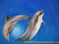 Underwater Mural for Dentist's Office - Dolphins