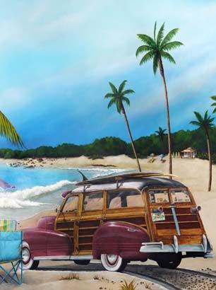 Boy's Bedroom Mural - Beach Scene