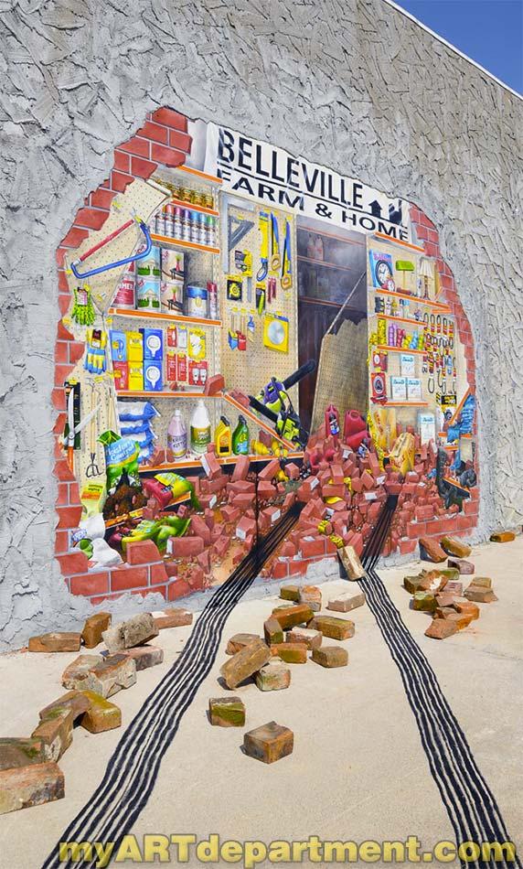 Exterior wall mural belleville kansas for Exterior wall mural