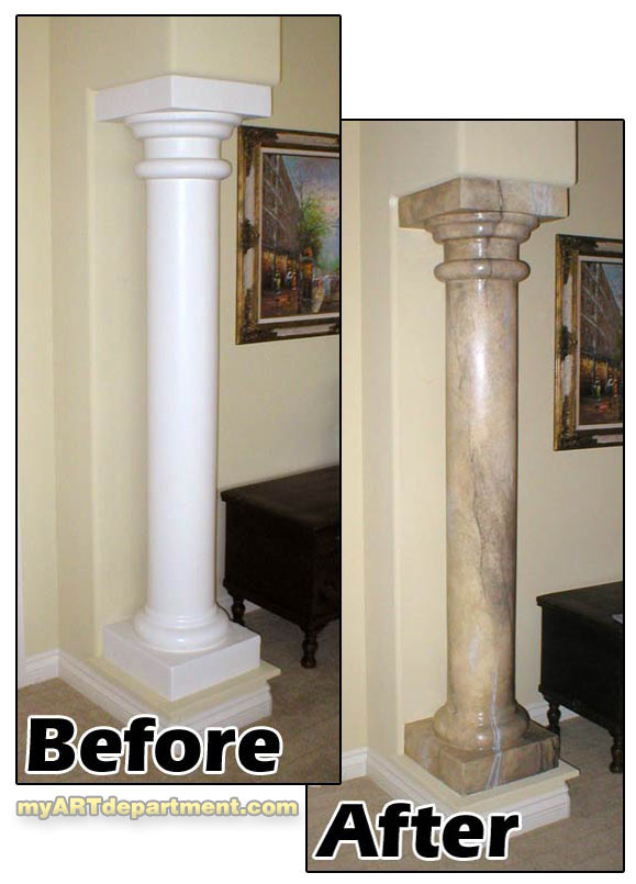 hand painted faux marble pillars gallery