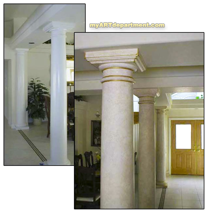 Painted Stone Pillars : Hand painted faux marble pillars gallery