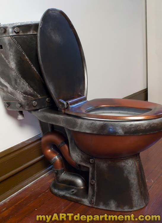 Industrial Steampunk Toilet One Of A Kind