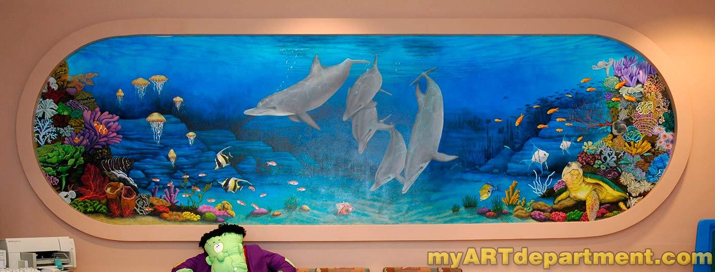 Childrens Hospital Playroom Murals Summerlin Las Vegas