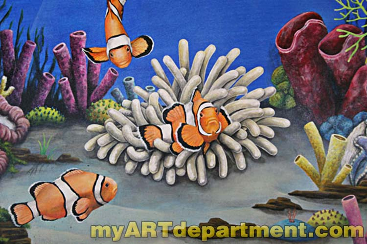 Undersea Wall Murals for Dentists Office