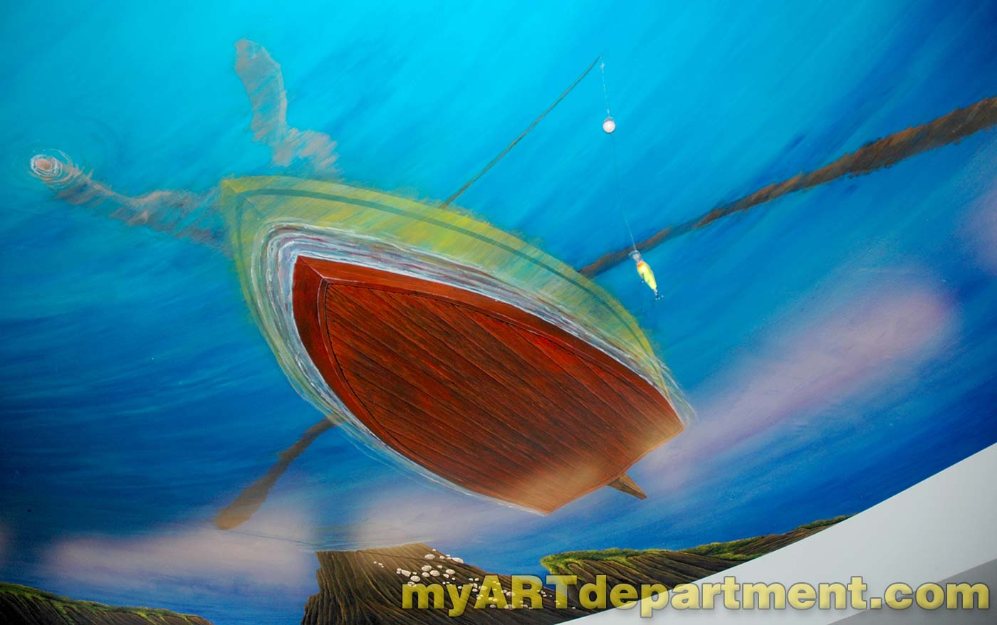 underwater mural for dentist s ceiling with dolphins underwater mural for dentist s office rowboat