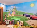 Disney characters mural kids playroom - Princesses